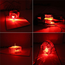 2017 New 3D Laser Cut Pop Up Greeting Card LED Light Birthday Christmas Music Postcard With Envelope Handmade Gift Souvenir