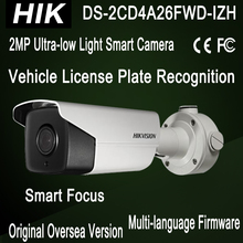 LPR Camera DS-2CD4A26FWD-IZH Hik Ultra-low light Bullet IP Smart Camera Smart Focus heater Face Detection IR50m Support 128G