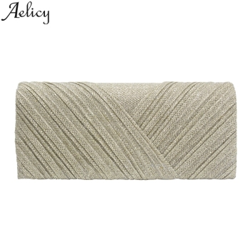 Aelicy 2019 Fashion Women Solid Ruched Embroidery Cocktail Party Bag Ladies Tote Phone Bag Evening Clutch bags Luxury Handbags