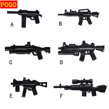 POGO 60pcs Military Series Weapons Bricks Army Soldier toys AK GUN Shotgun Police Building Blocks Baby Toys