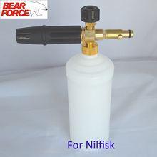 Foam Generator/ Foam Nozzle/ snow lance sprayer foam gun/ High Pressure Soap Foamer for NILFISK Pressure Washer Car Washer