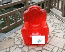 single person durable pvc inflatable sofa chair red color with backrest and armchair/pvc inflatable sofa for kids/adult