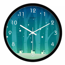 Bedroom Wall Clock Modern Design Sliver Relogio Parede Household Products Ikea Large Silent Decorative Wall Clock Metal DDN143