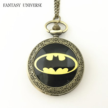 FANTASY UNIVERSE Freeshipping wholesale 20pc a lot pocket watch Necklace Dia47mm QLZHBBB03(China)