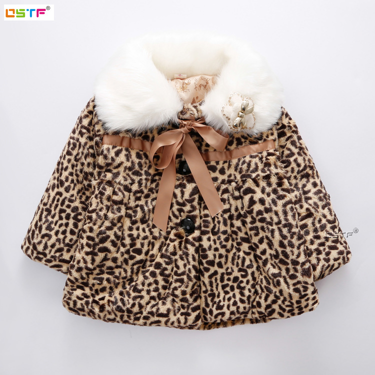 LSK High Quality Fashion Girls Winter Coat Fancy Faux Fur Leopard Baby Girls Clothes Winter Jacket 2017 brand new 18M-6TОдежда и ак�е��уары<br><br><br>Aliexpress