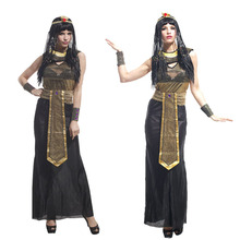 Halloween Cosplay Adult Cleopatra Costume Masquerade Party Supplies Women Sexy Egyptian Queen Dress up(China)