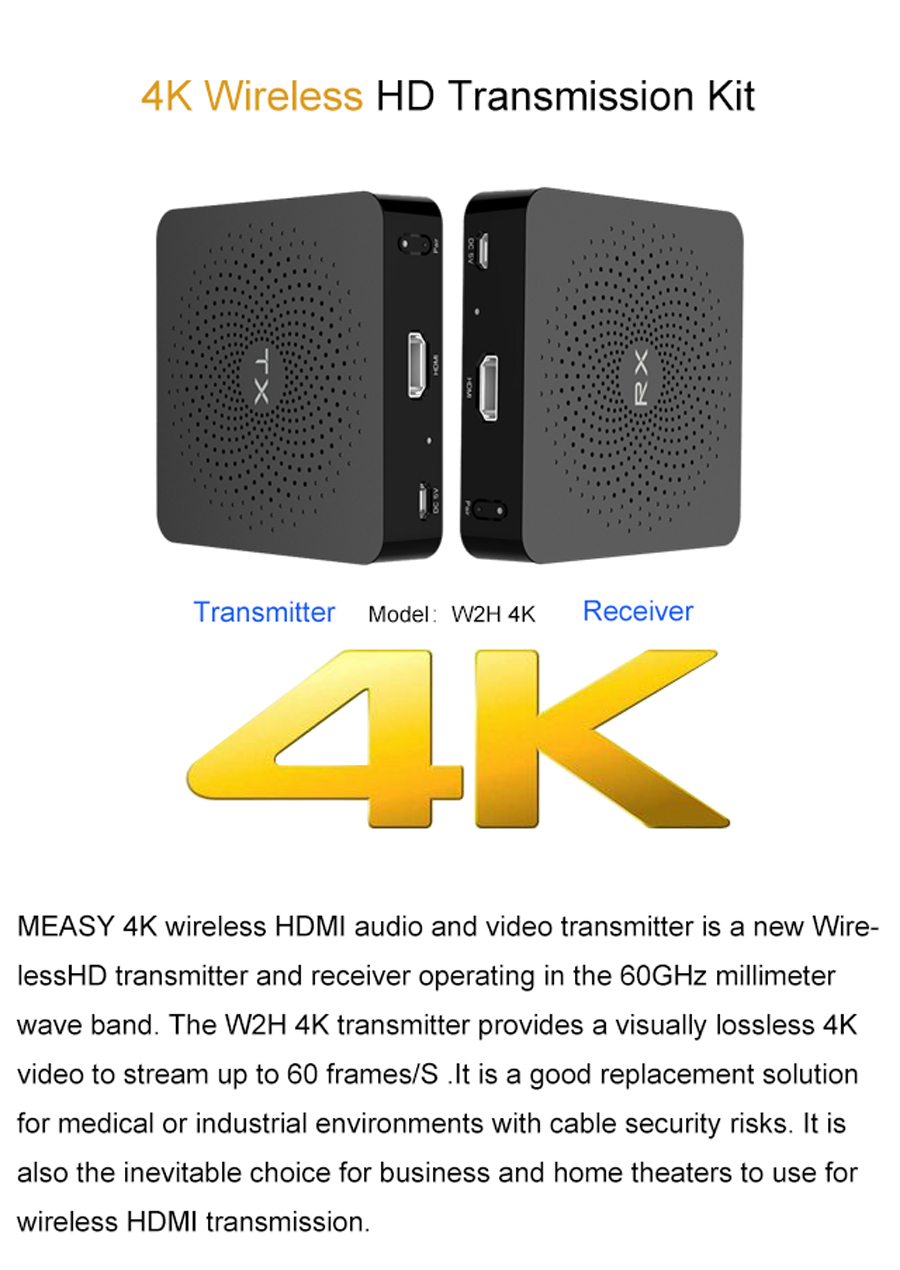 Measy W2H 4K 60HZ Wireless av Transmitter Receiver (11)
