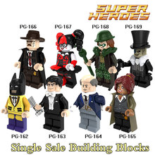 Building Blocks Penguin Harley Quinn Gordon Alfred Joker 2017 Batman Movie Superhero Figures Bricks Kids DIY Toys Hobbies PG8045