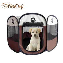 PAWING New Pet Tent Portable Folding Dog House Cage Dog Cat Tent Playpen Puppy Kennel Puppy Pen Soft Kennel New Cat Cage(China)