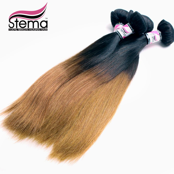 Wholesale Free Shipping 1kg Brazilian Ombre Virgin Straight Hair Extensions 10pcs Double Weft Rosa Hair Products Ombre HAIR<br><br>Aliexpress