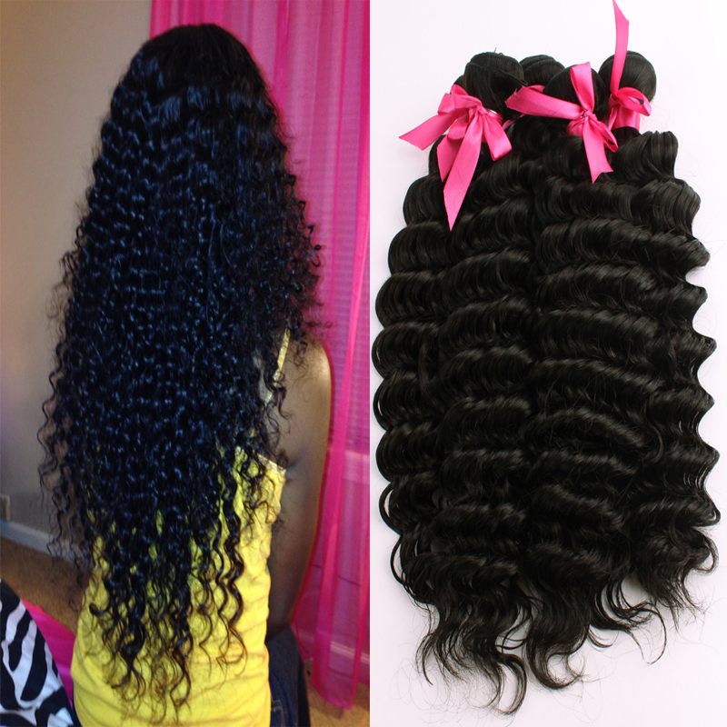 Black Human Hair Extensions Brazilian Hair 3 Bundles Brazilian Deep Wave Curly Virgin Hair Cheap Brazilian Hair Weave Bundles<br><br>Aliexpress