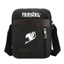 Hot anime fans shoulder bag canvas fairy tail bag Natsu Gray Lucy fairy tail logo printing high quality durable shoulder bag