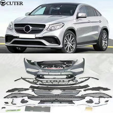 GLE 320 400 Coupe GLE63 AMG style Car body kit PP Unpainted front bumper rear bumper for Mercedes Benz GLE Coupe GLE63 AMG(China)