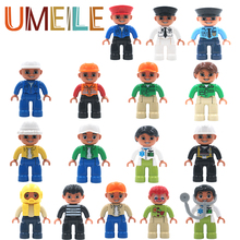 UMEILE Original Duplo City Series Policeman/Thief/Doctor/Nurse etc. Figure Large Particle Building Blocks Baby Toy Brick Gift