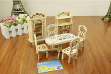 1PC New arrival Mini wood furniture bedroom suit fashion home Playsets wood crafts A1059