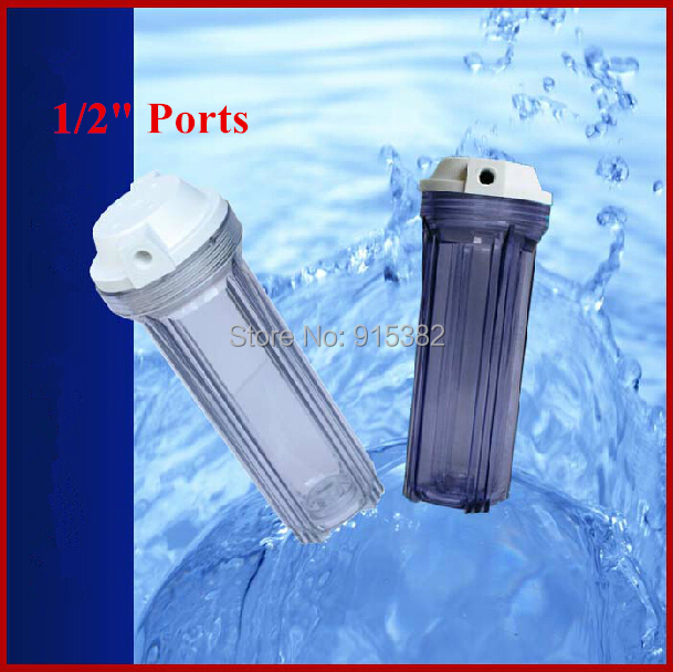10 inch RO Water Filter Housing With 1/2 Port For Household Water Purifiers / Aquarium<br>