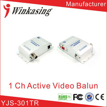 High quality 1 Channel Twisted Pair Active Balun Video transmitter utp transceiver(China)