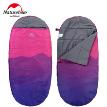 Naturehike factory sell New ultralight camping sleeping bag envelope hooded outdoor cotton large space sleeping bags(China)