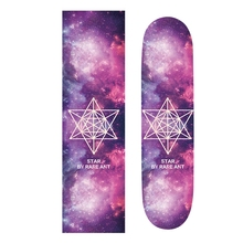 Professional 85*24cm Skateboard Sandpaper Longbaord Skate Board Deck With Crizzly Words Skateboard Parts Griptape