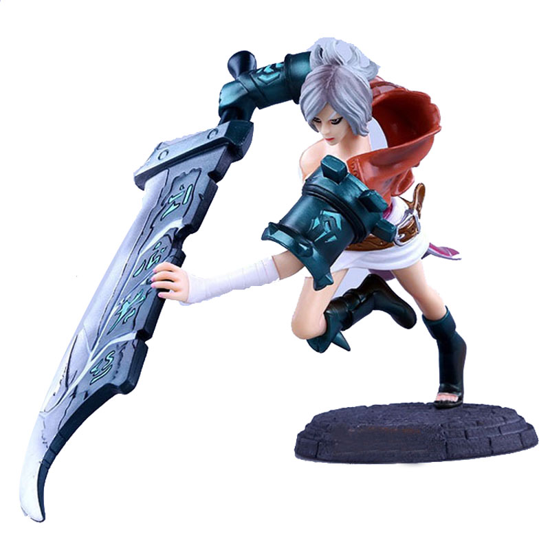 LOL 15cm PVC Action Figure Recasting Broken Sword Raven Funs Kids Toy Online Game Collection Doll Heros Figurine RT042<br><br>Aliexpress