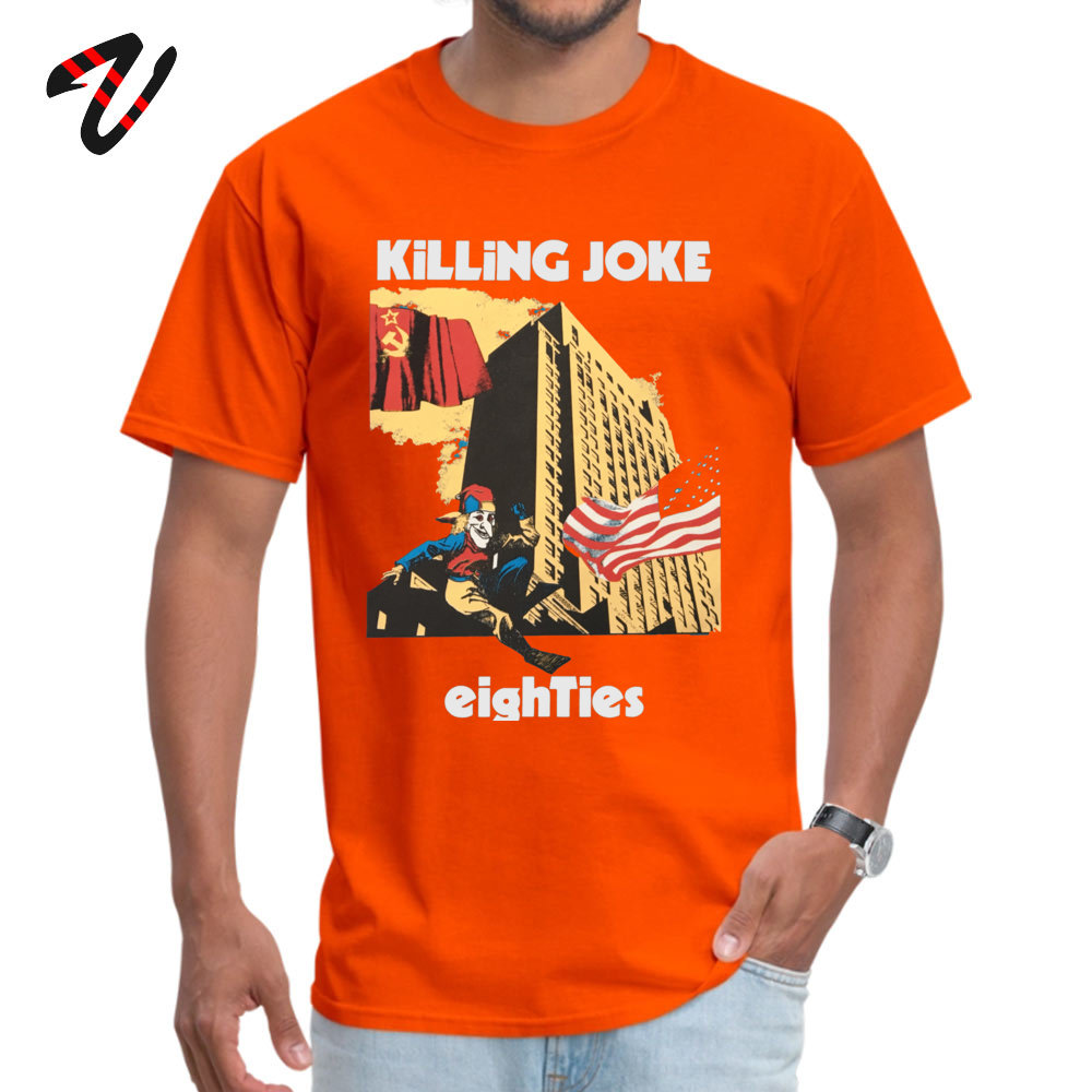 Normal Summer T Shirt 2018 New Fashion Summer Short Sleeve Crewneck T Shirt Pure Cotton Youth Cool Tops Shirt Drop Shipping Killing Joke - Eighties 1985 -12512 orange