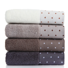 34x72cm 100% Cotton Absorbent Dot Pattern Solid Color Soft Comfortable Men Women Bathroom Travel Hand Face Towel(China)