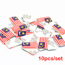 10pcs/lot New Car styling Malaysia small Decorative Badge Hub caps Steering wheel for Seat Mazda Toyota Lexus Car Emblem Sticker(China)