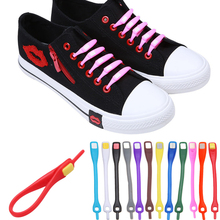 10pcs/lot Shoelaces Novelty No Tie Shoelaces Unisex Elastic Silicone Shoe Laces For Men Women All Sneakers Fit Strap 12 Colors