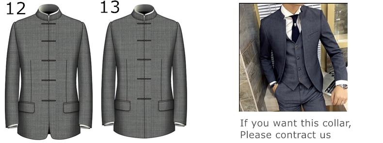 HTB1d9aVc2BNTKJjSszcq6zO2VXaN - Custom Made Men's Wedding Suits Groom Tuxedos Jacket+Pant+Tie Formal Suits Business Causal Slim Navy Plaid Custom Suit Plus Size