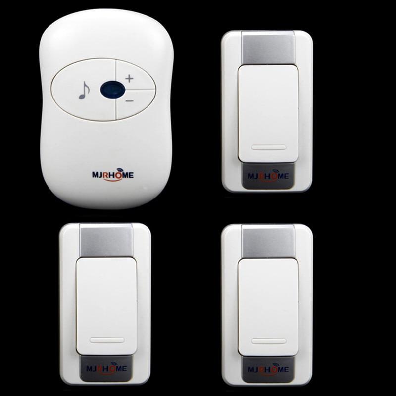 AC 110-220VWaterproof Wireless Doorbell 280m working range 3 transmitters+1 receiver High quality Smart home LED Door Bell<br><br>Aliexpress
