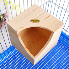 1 PCS Rat Hamster Solid Wooden House Pet Product Rabbit Rat Small Animal Wooden Toys House Home(China)