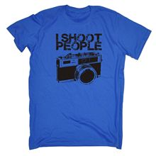 I Shoot People Camera T-SHIRT Photography Film Photo Art Funny Gift birthday Print T Shirt Men Summer Style Fashion(China)