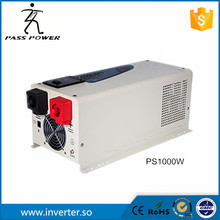 UPS system LCD display 50Hz 12v/24v 1000w dc to ac inverter charger inverter pure sine wave low frequency inverter(China)