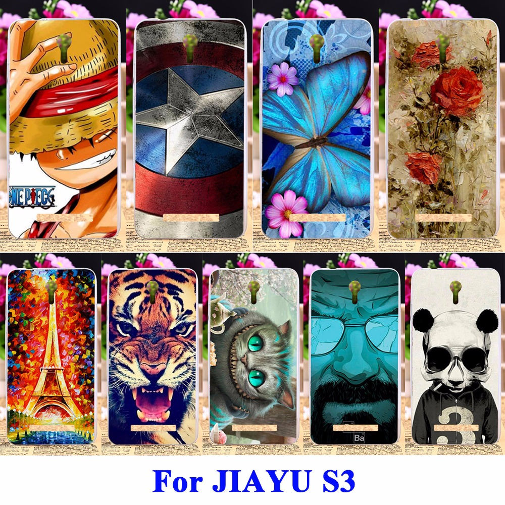 DIY Flexible Soft TPU Silicon Cell Phone Case For JIAYU S3 Housing Bags Skin Shell Covers For JIAYU S3 Protector Shield Cases(China)