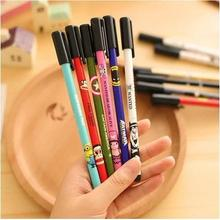 Shoes Cartoon Animal Printed Gel-ink Pen For Students Kawaii Stationery Supplier Diamond Head Design Unisex Gel 12pcs/lot Arc467