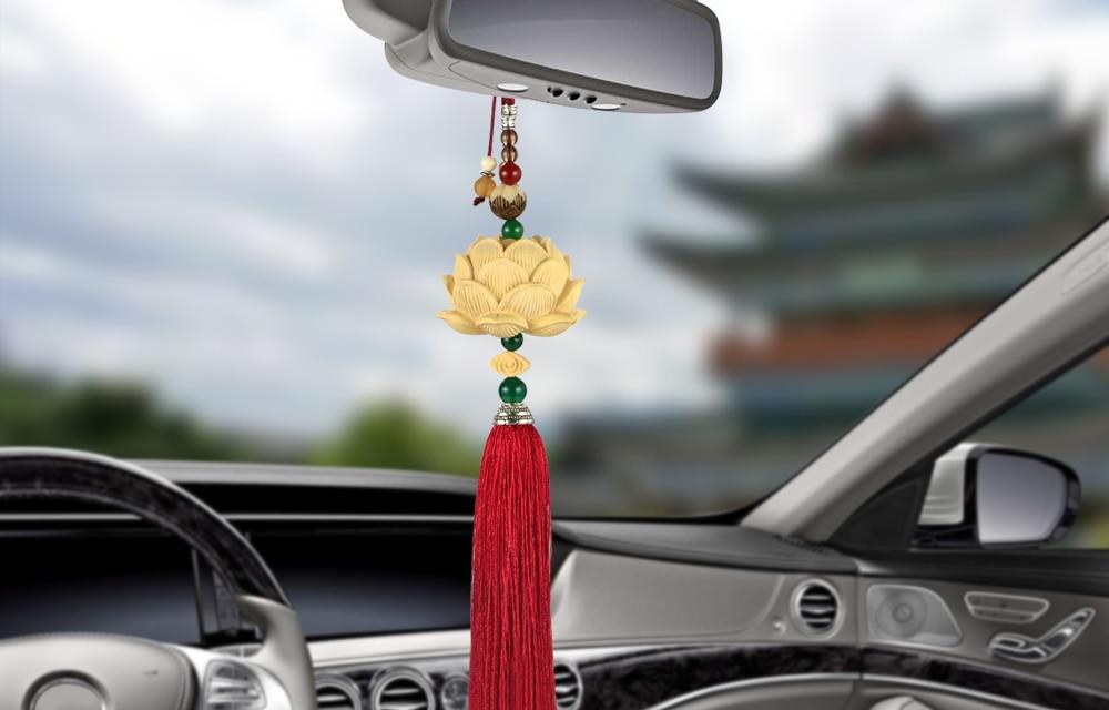 CAR ORNAMENT DECOR CAR REARVIEW MIRROR  LOTUS DESIGN PENDANT