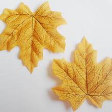 Free Shipping Package of Approximately 100pcs Assorted Rich Fall Colored Silk Maple Leaves Artificial Leaves