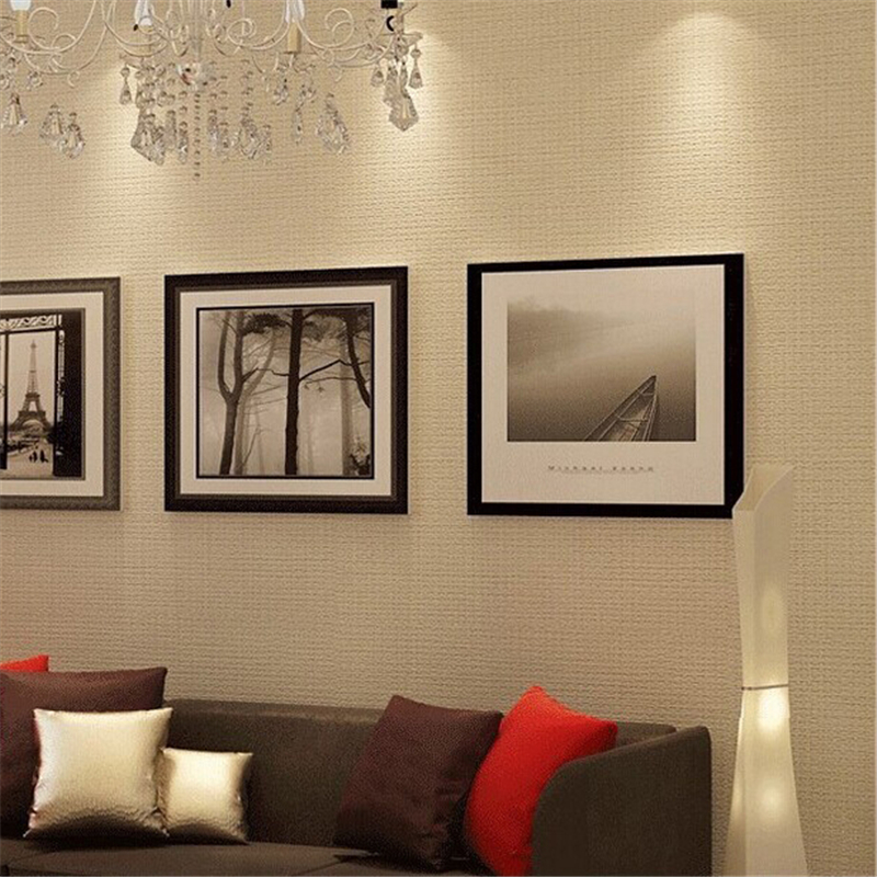 beibehang of wall paper Simple European Wallpaper Modern PVC Wall Paper Roll White Beige papel parede mural contact paper<br>