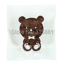 White Bear Window Cellophane Bags - Cute plastic poly bags for cookie gift packaging ideas 10x14cm 300pcs/lot(China)