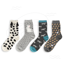 Foot 22-25cm Bunny Socks Rabbit Owl Polka Dot Animals Zoo Yellow Duck Spotty Dog Cookie Purl OVO Fluff Fluffy Panda Bear Cat Paw(China)