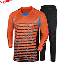 Goalkeeper Uniforms Top Quality Soccer Goalkeeper Jerseys+Long Pants For Adult Survetement Football 2017