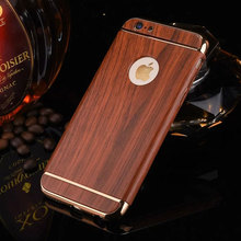 2017 Luxury Wood grain phone cases For iPhone 6s Case Ultra Thin Luxury Wood grain For iPhone 6 6s plus Case covers