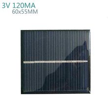 10Pcs DIY Solar Panels Photovoltaic Solar Cells Power Charger Solars Epoxy Plate 60 x 55 3V 120MA