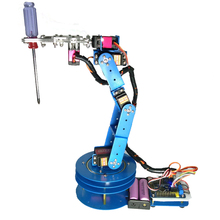 6Axis Fully Assembled Mechanical Robotic Arm Clamp Claw For Arduino Raspberry High - quality numerical servo. Free shipping(China)