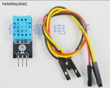 5pcs New digital Temperature and Relative Humidity Sensor DHT11 Module with Cable(China)