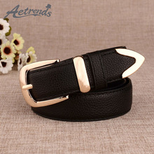 [AETRENDS] 2016 PU Leather Fashion Brand Designer Belts for Women Buckle Belt Clothes Accessories Z-2389