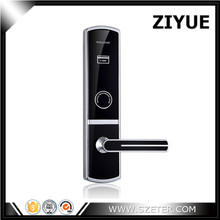 ZIYUE High Class Luxury Zinc Alloy 125khz or 13.56mhz Rfid Card Electronic Hotel Room Door Locks ANSI Standard ET719RF(China)