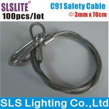 100PCS/LOT lighting safety cable steel safety cable Stage Safety Cable for lighting/safety cable LED