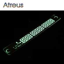 Car Styling Luminous Phone Number Parking Card Stickers for Mazda 3 6 CX-5 Skoda Octavia 2 A7 A5 Rapid Fabia Superb Accessories