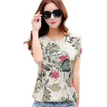 Women Summer Style T-shirt Casual Tee Shirt femme Ladies Top Tees Cotton Tshirt Female Brand Clothing T Shirt Printed Tops(China)